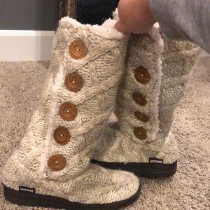 MukLuks cream boots